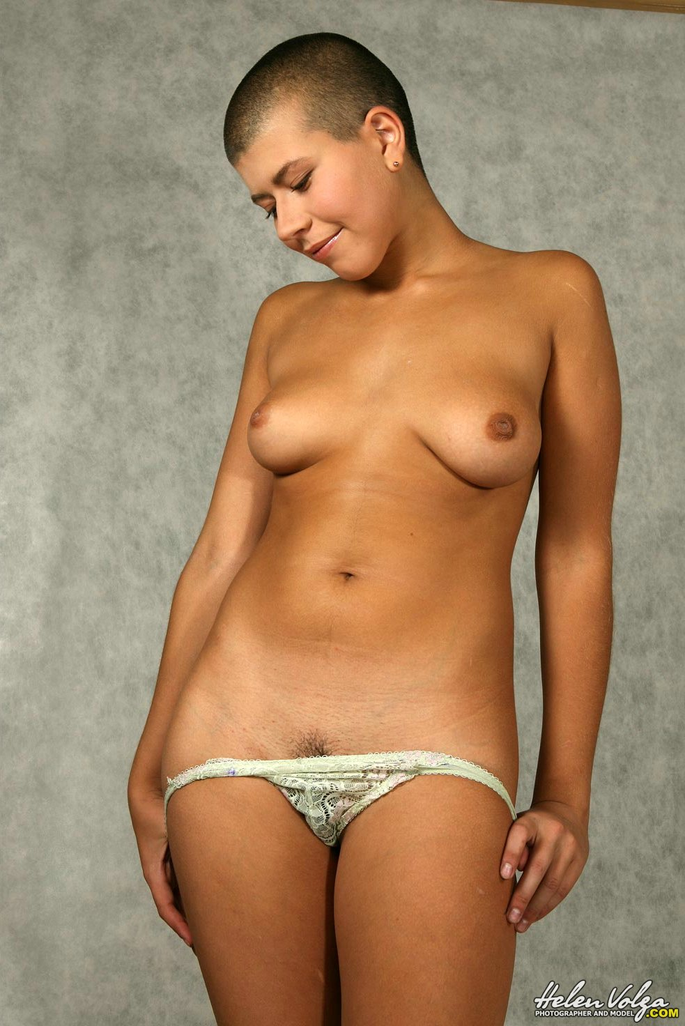 Words... bald nude models